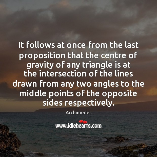 Image, It follows at once from the last proposition that the centre of