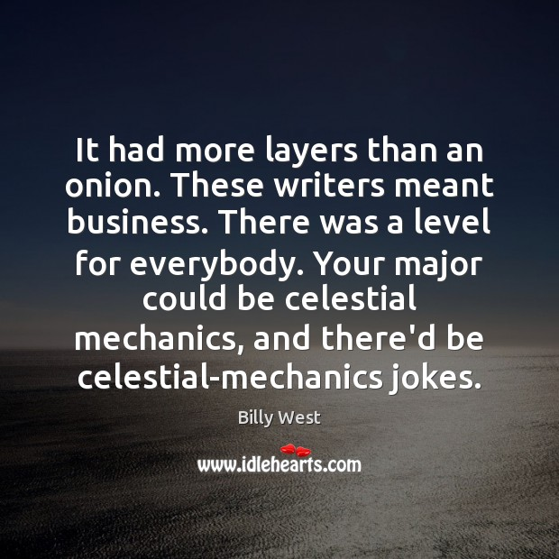 Image, It had more layers than an onion. These writers meant business. There