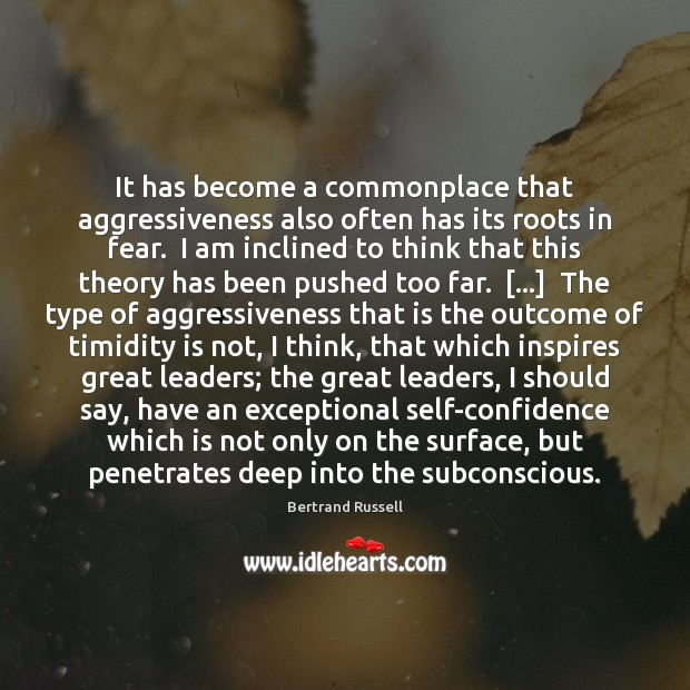 Image, It has become a commonplace that aggressiveness also often has its roots