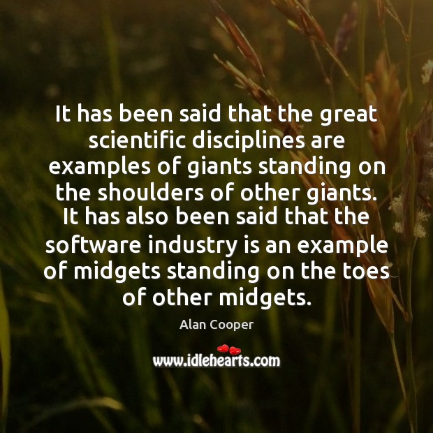 It has been said that the great scientific disciplines are examples of Image