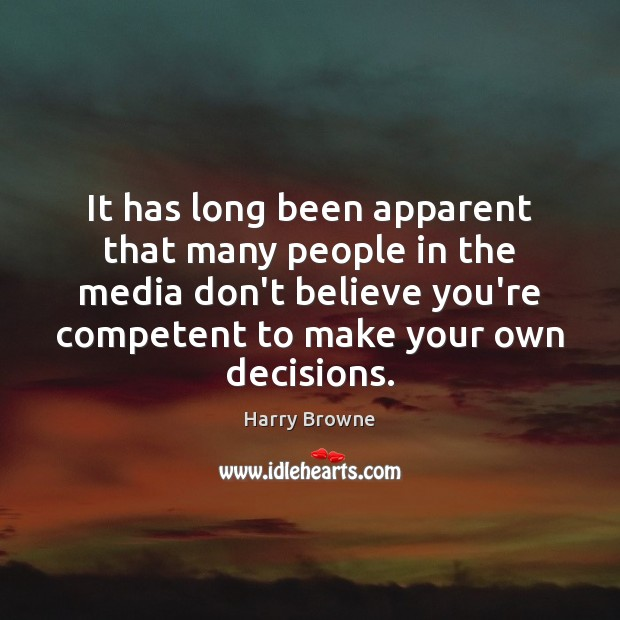 It has long been apparent that many people in the media don't Image