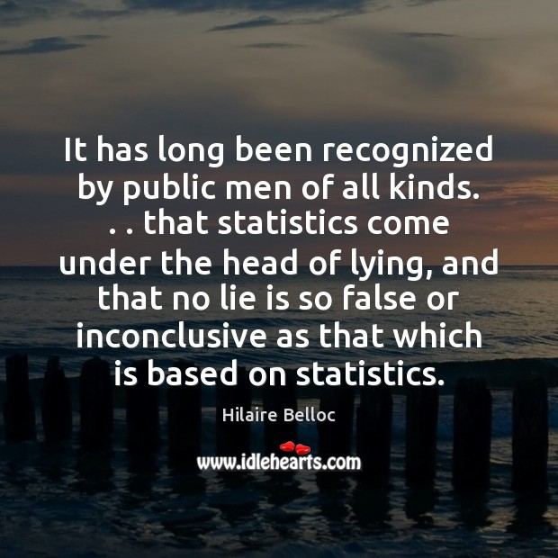 It has long been recognized by public men of all kinds. . . that Hilaire Belloc Picture Quote