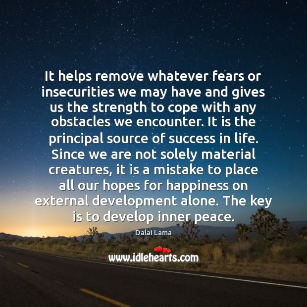 Image, It helps remove whatever fears or insecurities we may have and gives