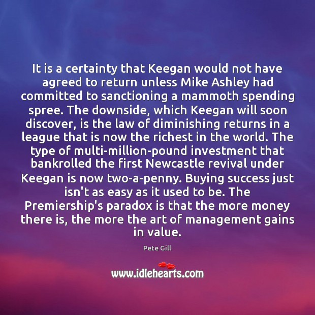 Image, It is a certainty that Keegan would not have agreed to return