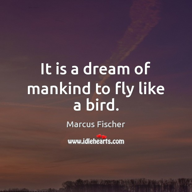 Image, It is a dream of mankind to fly like a bird.