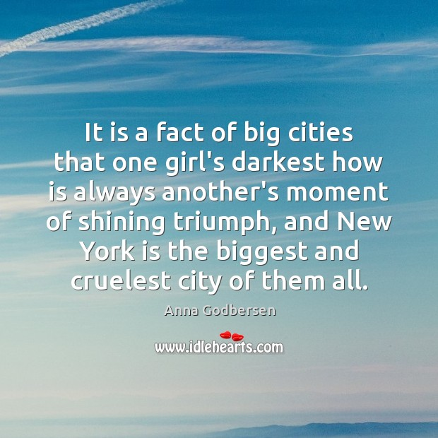 Image, It is a fact of big cities that one girl's darkest how