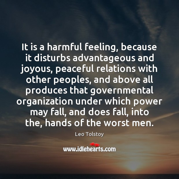 Image, It is a harmful feeling, because it disturbs advantageous and joyous, peaceful