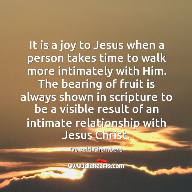 Image, It is a joy to Jesus when a person takes time to