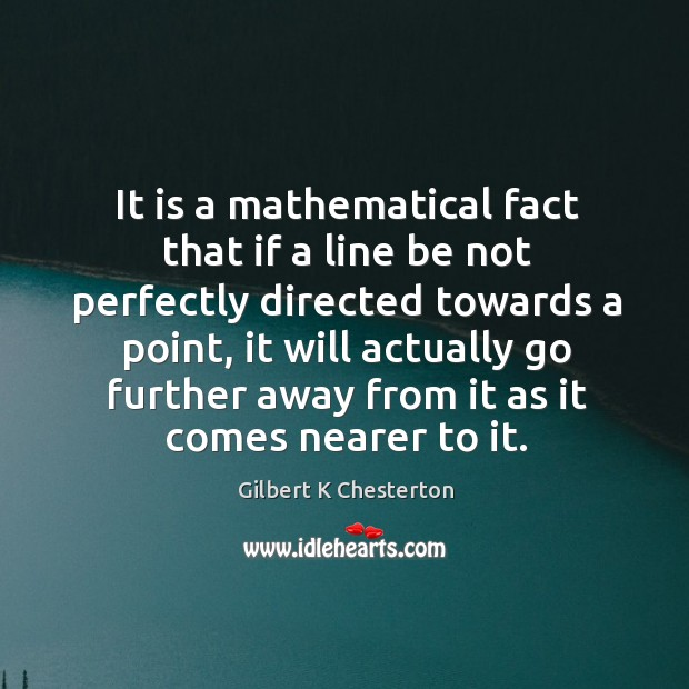 It is a mathematical fact that if a line be not perfectly Image