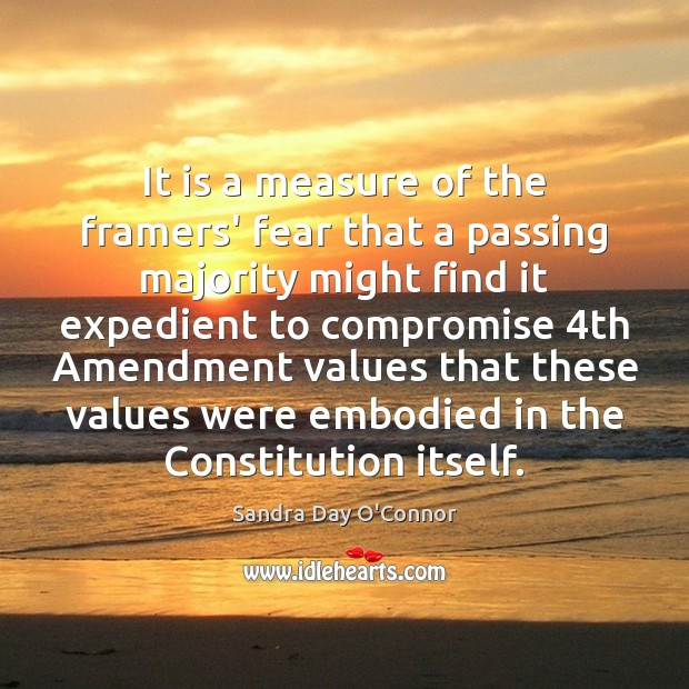Image, It is a measure of the framers' fear that a passing majority