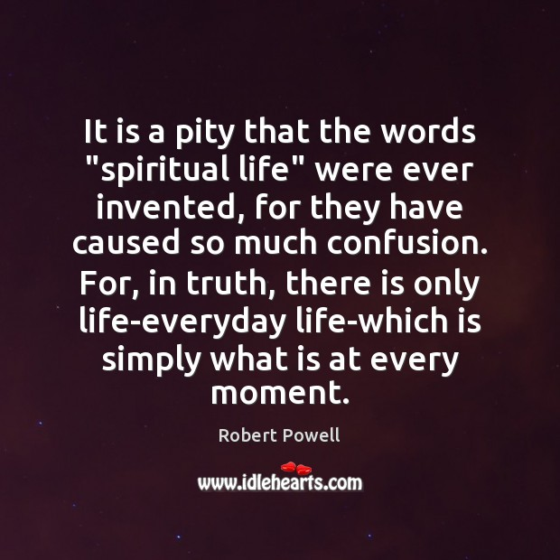 """It is a pity that the words """"spiritual life"""" were ever invented, Image"""
