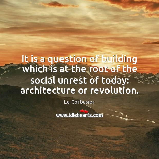 It is a question of building which is at the root of Image