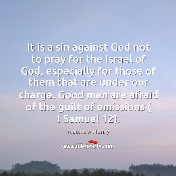 It is a sin against God not to pray for the Israel Image