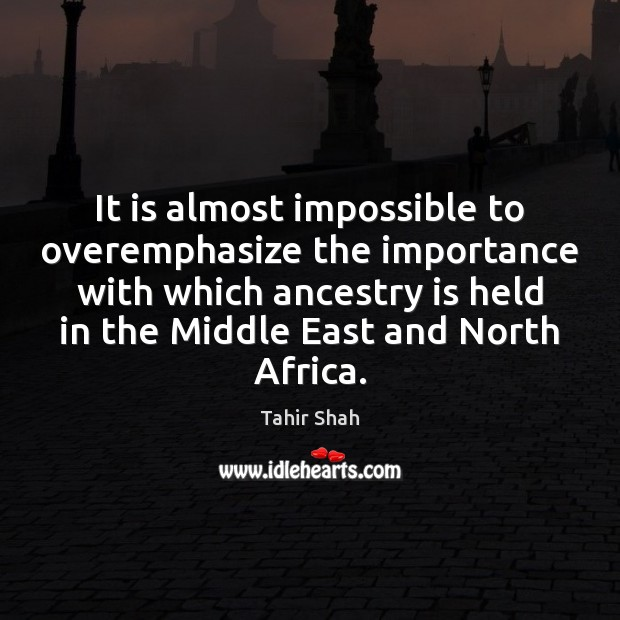 Image, It is almost impossible to overemphasize the importance with which ancestry is