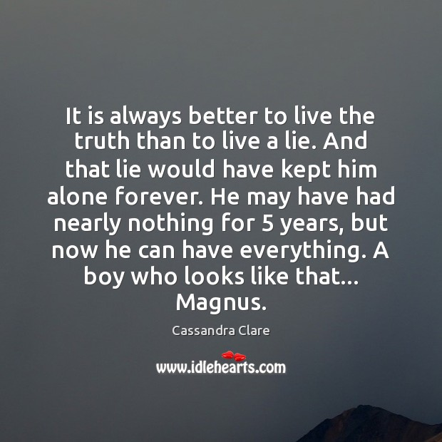It is always better to live the truth than to live a Image