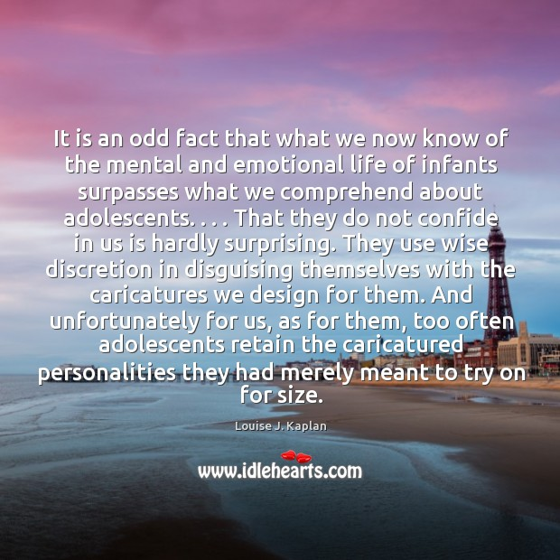 It is an odd fact that what we now know of the Louise J. Kaplan Picture Quote
