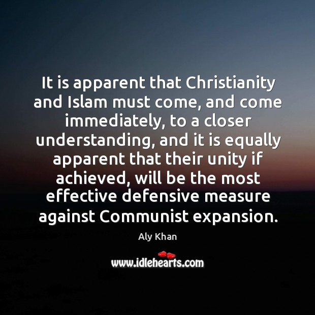 Image, It is apparent that christianity and islam must come, and come immediately