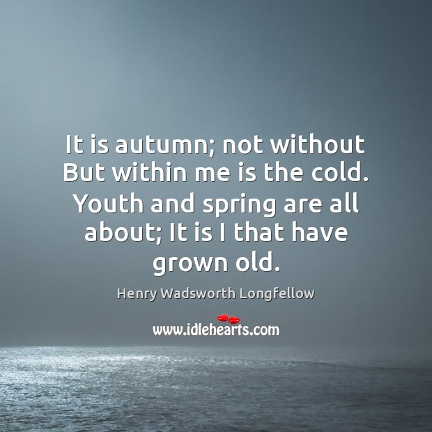 Image, It is autumn; not without But within me is the cold. Youth