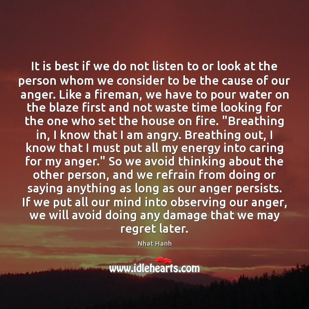 Image, It is best if we do not listen to or look at