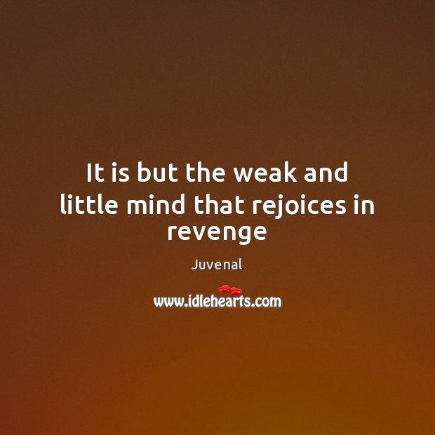 Image, It is but the weak and little mind that rejoices in revenge