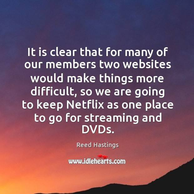 It is clear that for many of our members two websites would make things more difficult Image