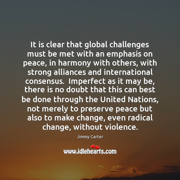 Image, It is clear that global challenges must be met with an emphasis