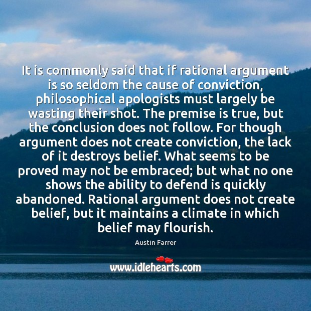 Image, It is commonly said that if rational argument is so seldom the