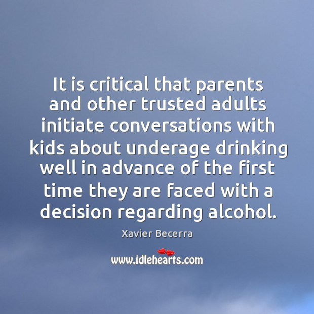 Image, It is critical that parents and other trusted adults initiate conversations with kids about