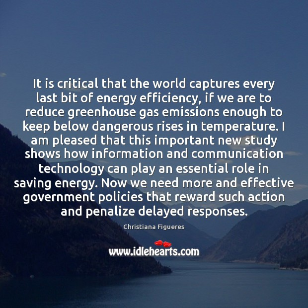 Image, It is critical that the world captures every last bit of energy