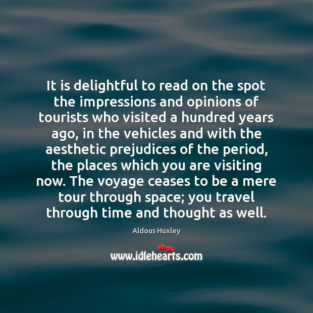 Image, It is delightful to read on the spot the impressions and opinions