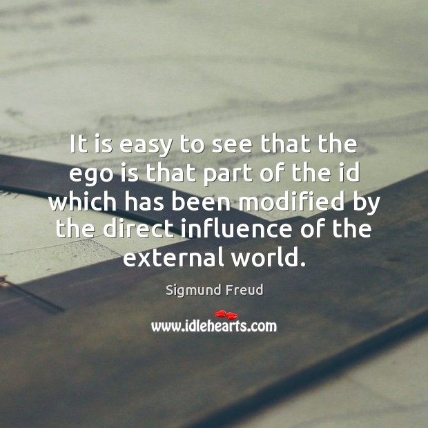 It is easy to see that the ego is that part of Ego Quotes Image