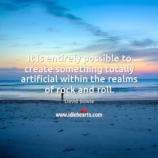 Image, It is entirely possible to create something totally artificial within the realms