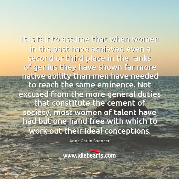 Image, It is fair to assume that when women in the past have achieved even a second or third place