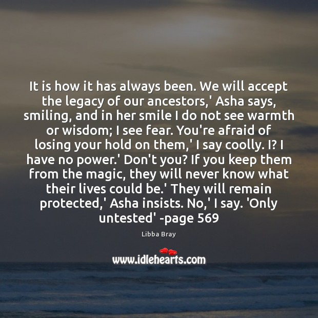 It is how it has always been. We will accept the legacy Image