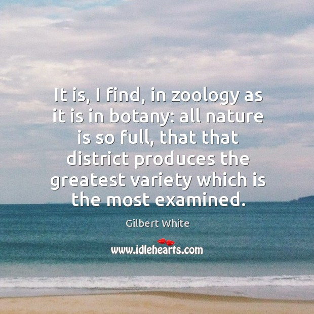 Image, It is, I find, in zoology as it is in botany: all nature is so full