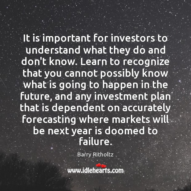 Image, It is important for investors to understand what they do and don't