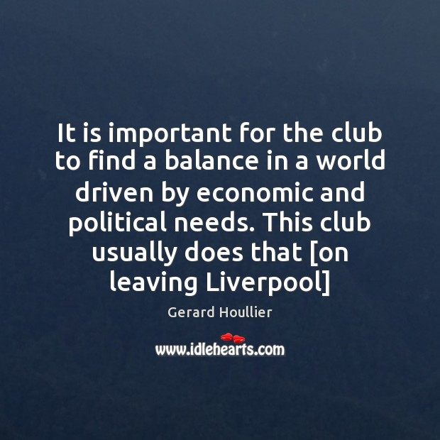 It is important for the club to find a balance in a Image