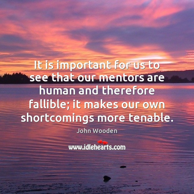 It is important for us to see that our mentors are human Image