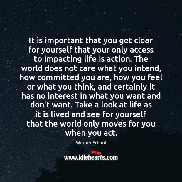It is important that you get clear for yourself that your only Image