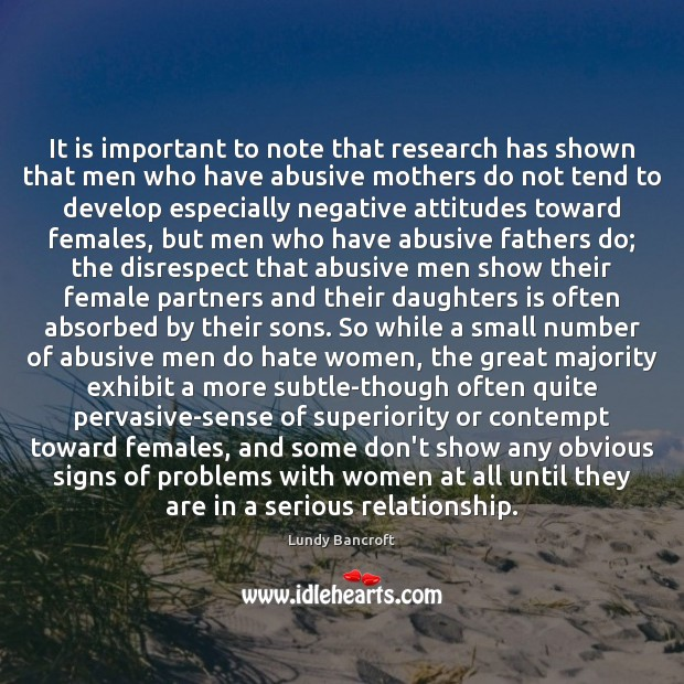 Image, It is important to note that research has shown that men who