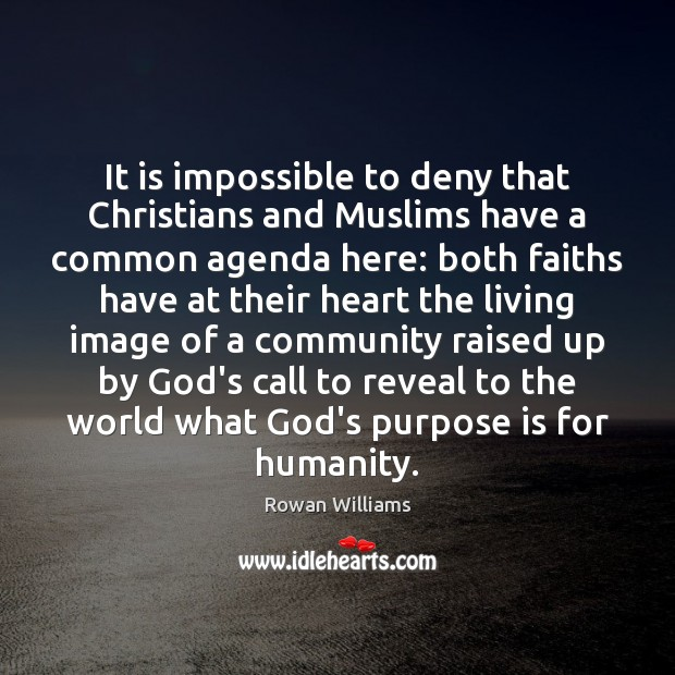 Image, It is impossible to deny that Christians and Muslims have a common