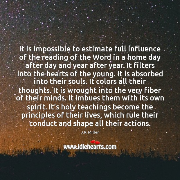 Image, It is impossible to estimate full influence of the reading of the