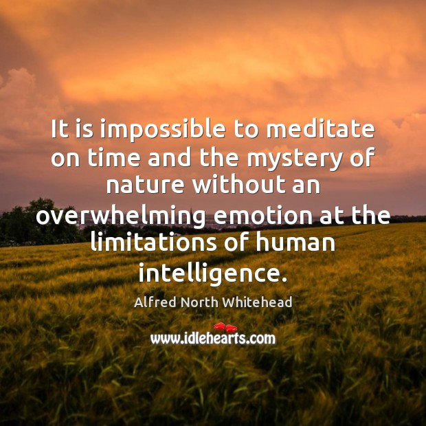 It is impossible to meditate on time and the mystery of nature Image