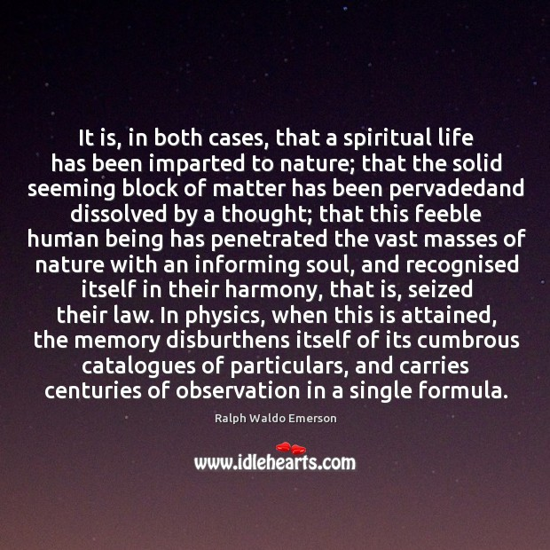 Image, It is, in both cases, that a spiritual life has been imparted