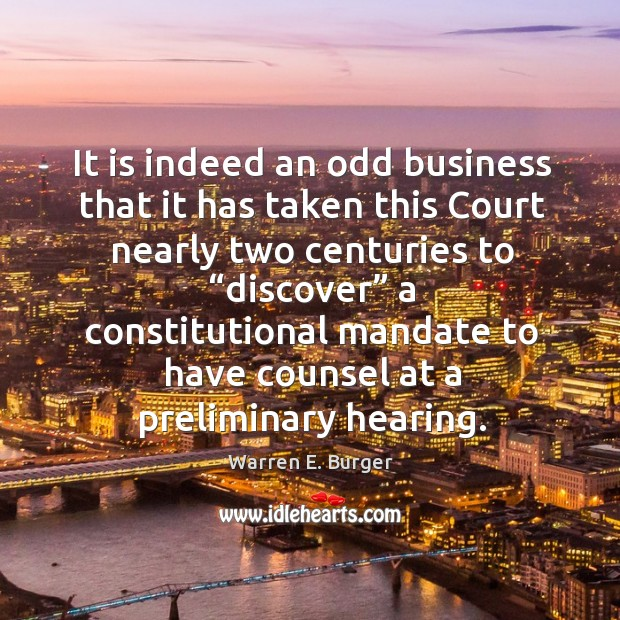 """It is indeed an odd business that it has taken this court nearly two centuries to """"discover"""" Image"""