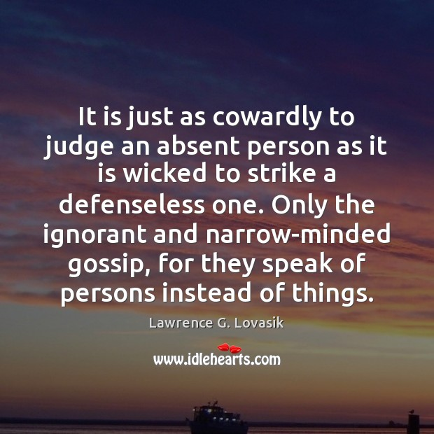 a description of a narrow minded person