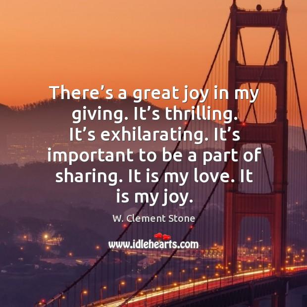It is my love. It is my joy. Image
