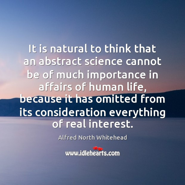 Image, It is natural to think that an abstract science cannot be of
