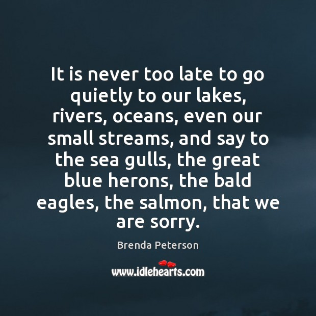 Image, It is never too late to go quietly to our lakes, rivers,