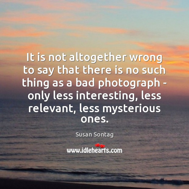 It is not altogether wrong to say that there is no such Susan Sontag Picture Quote